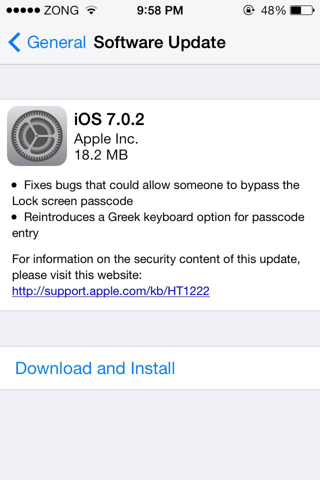 iOS 7.0.2 Download
