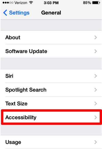 How To iOS 7 Accessibility