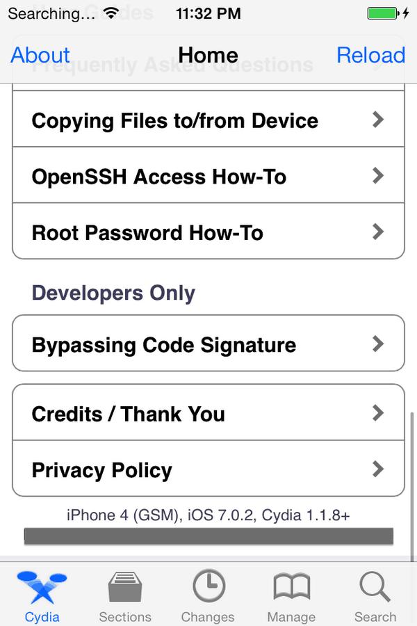 cydia iOS 7.0.2 jailbreak