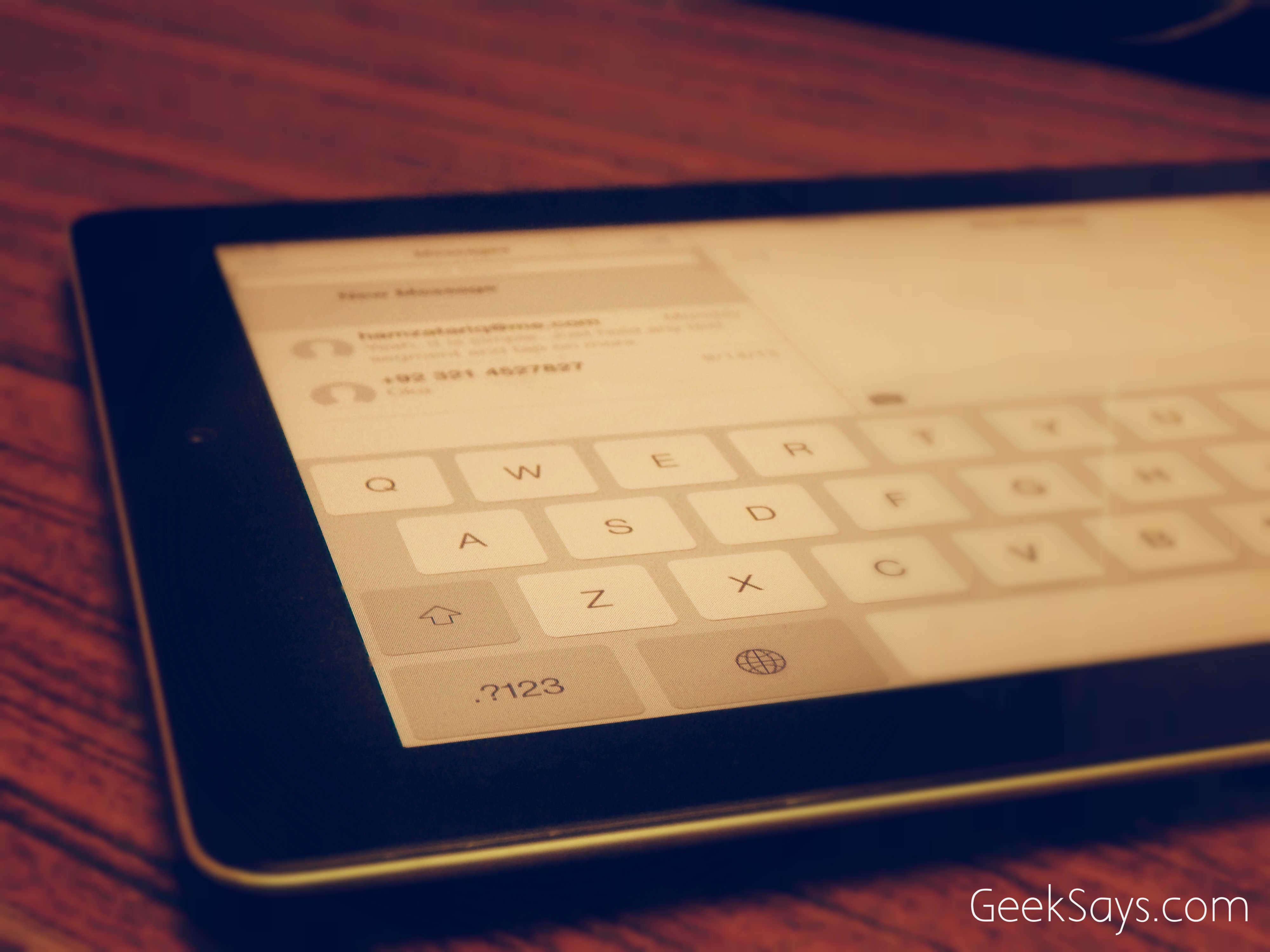 fix iOS 7 keyboard lag on iPad