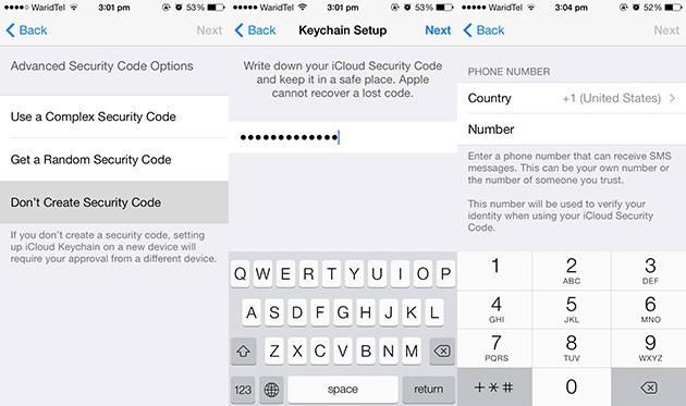 iCloud Keychain Setting Up