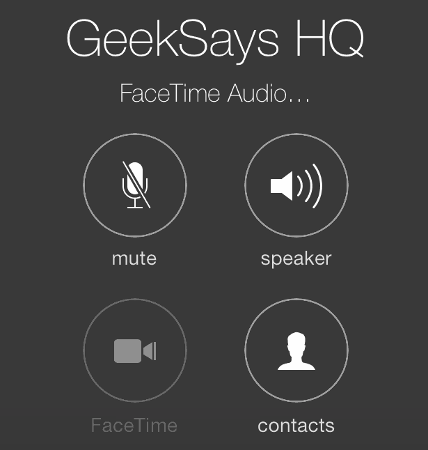 iOS 7 How To FaceTime Audio Call