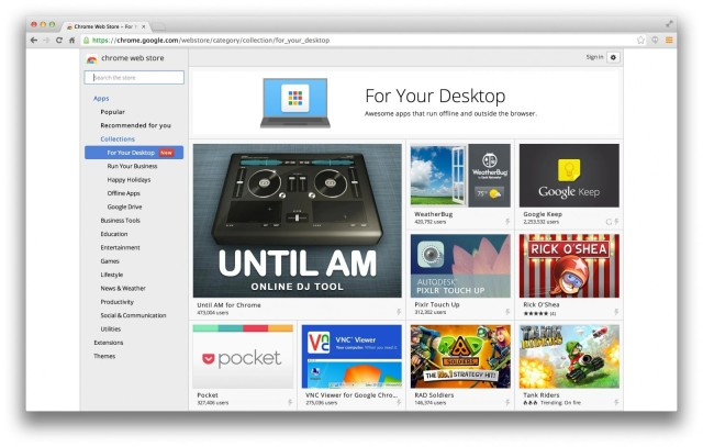 Chrome App launcher OS X