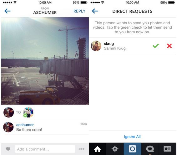Instagram Direct v5