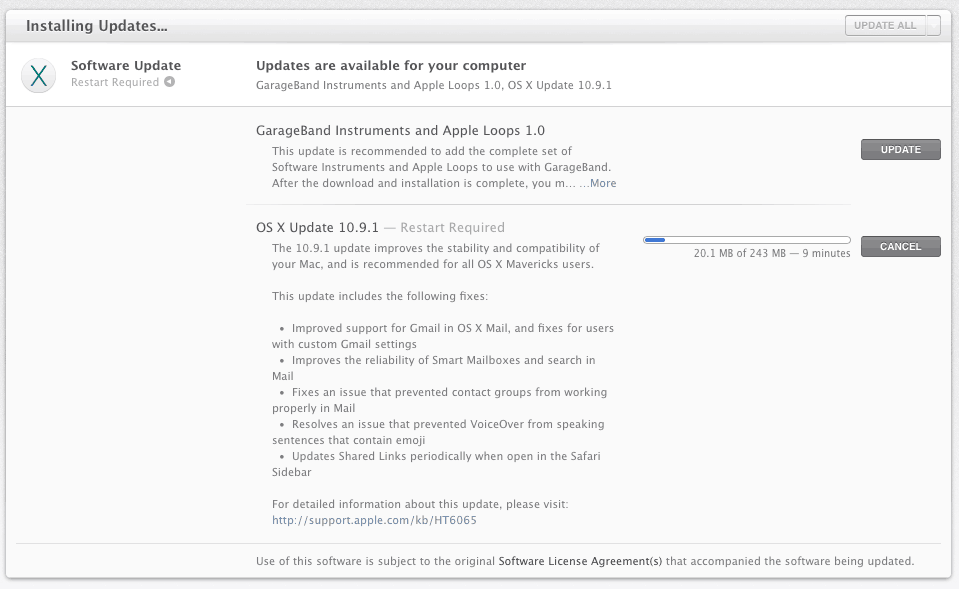 OS X Mavericks 10.9.1
