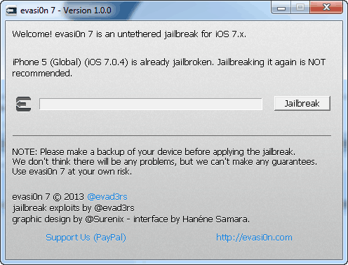 evasi0n windows ios 7 jailbreak