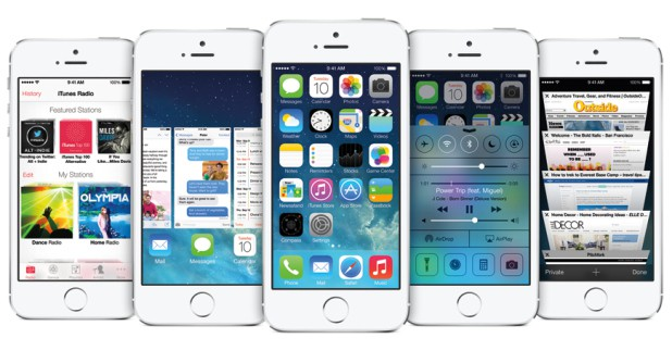 iOS 7 featuring iPhone 5s