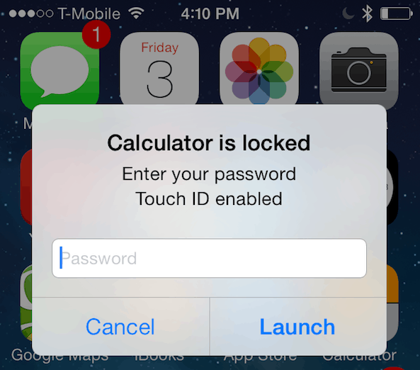 AppLocker for iOS 7