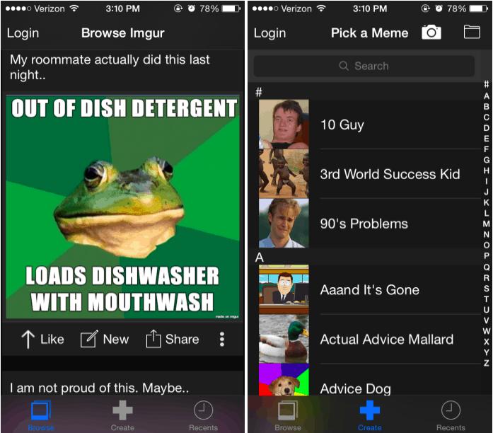 MemGen iOS App