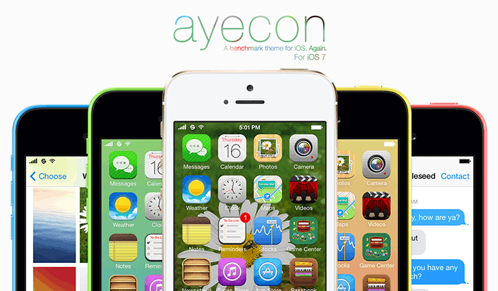 Ayecon iOS 7 cydia theme