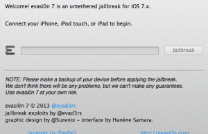 Evad3rs Released iOS 7.0.5 Jailbreak Tool (Download evasi0n7 v1.0.5)