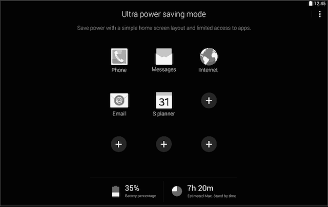 Galaxy Tab S 8.4 Ultra Power Saving Mode