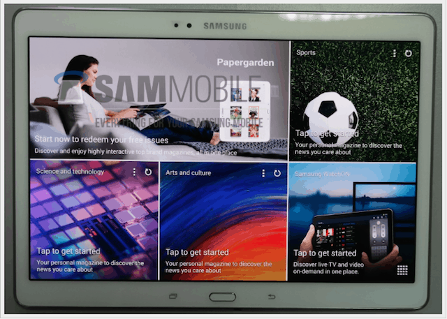 Galaxy Tab S 8.4 variant front display