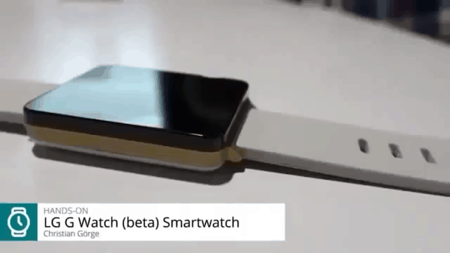 G Watch in beta leaked in German video