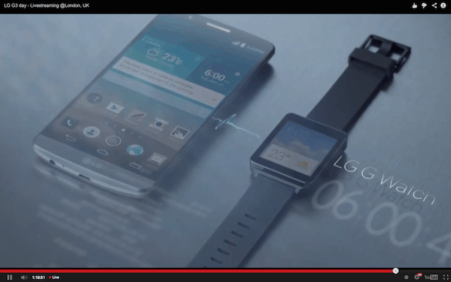 LG G3 and G Watch