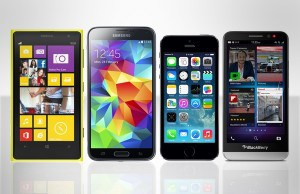 Smartphones-Samsung-Galaxy-S5-Nokia-Lumia-1020-iPhone-5s-BlackBerry-z30