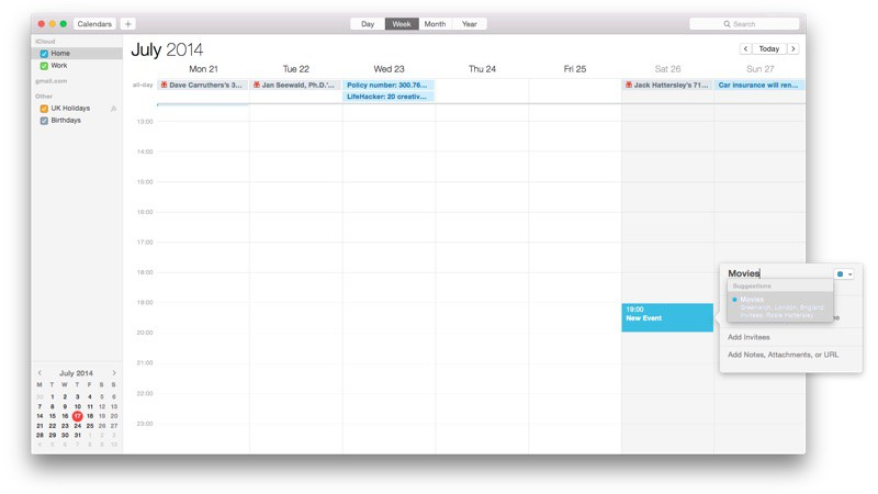 iOS 8 Implements New Calender App Features