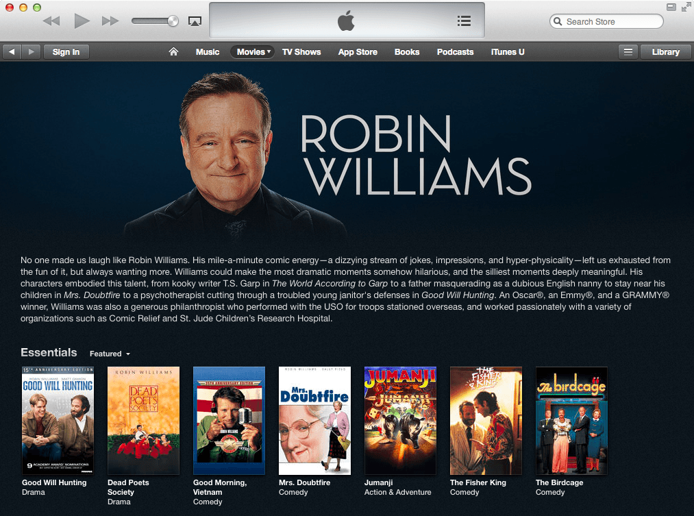 Robin-Williams-iTunes-Store-Tribute-Movies