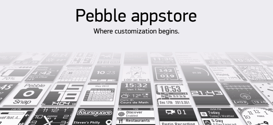 pebble watch app store