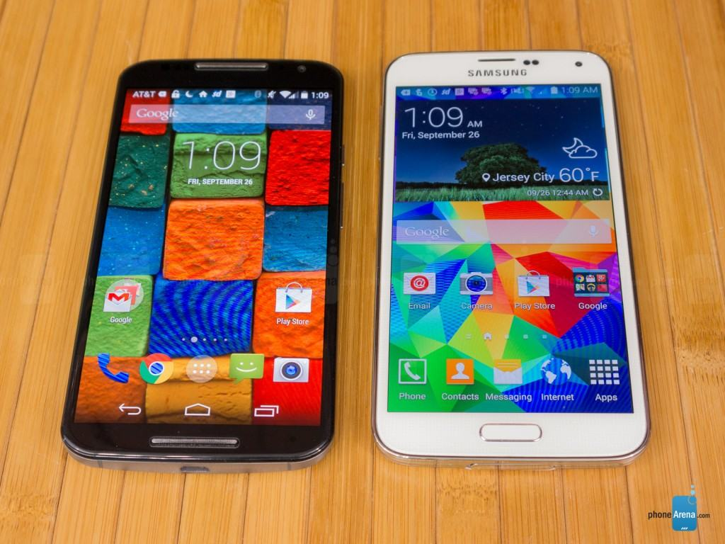 Motorola Moto X 2014 vs Samsung Galaxy S5