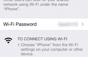 How to use the iPhone's Personal Hotspot feature