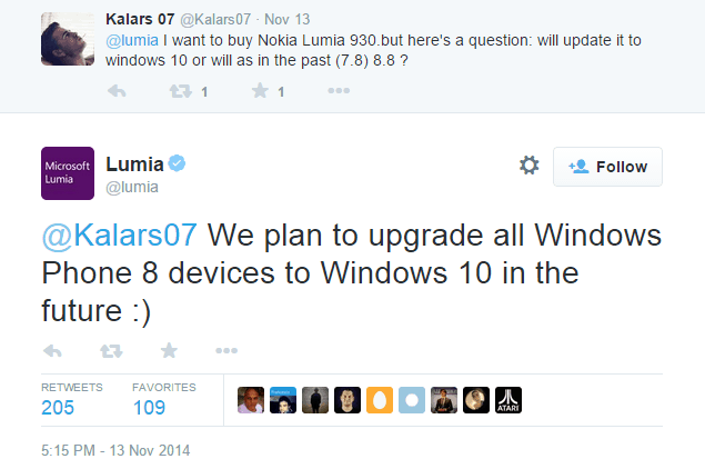 lumia phones will receive windows 10