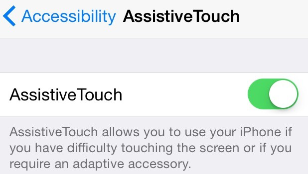 How to add software touch button on iPad and iPhone