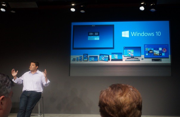 Microsoft unveils the OS windows 10 under new CEO