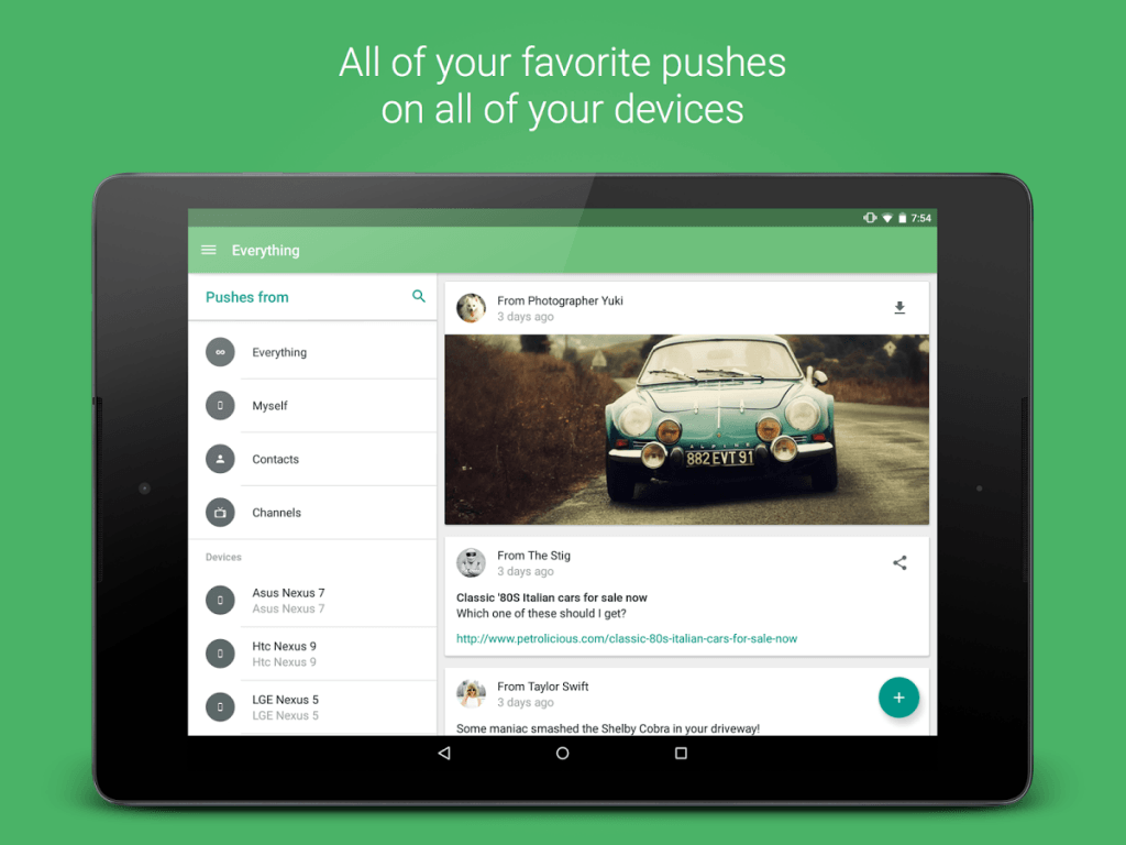 pushbullet play store