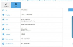 Upcoming Microsoft tablet, revealed by benchmark