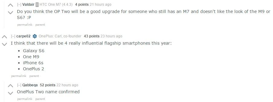 OnePlus Two rumors