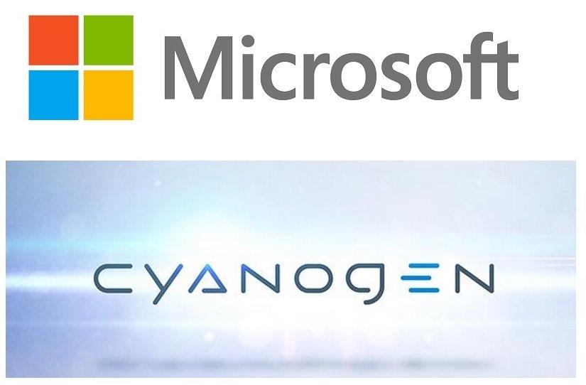 microsoft cyanogen partnership