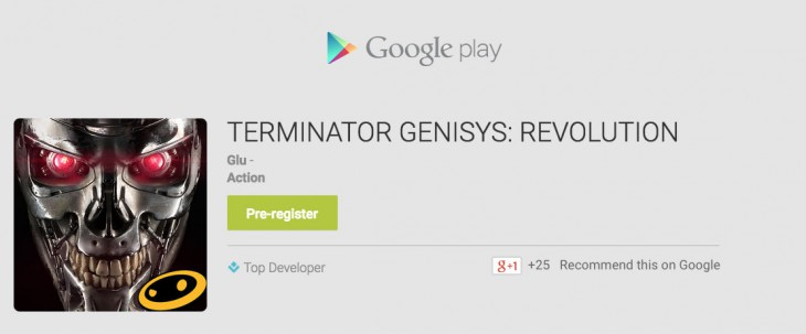 Termintator Genisys Revolution Pre-Register