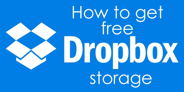 how to get free dropbox storage