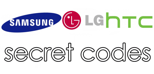 samsung htc lg secret codes