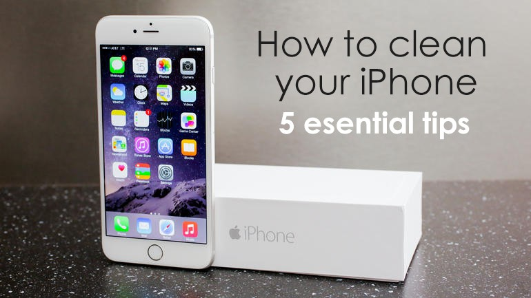 how to clean your iphone 5 essential tips. Black Bedroom Furniture Sets. Home Design Ideas