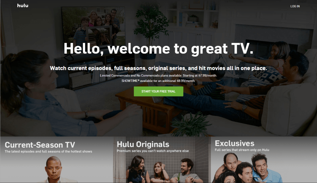 hulu - best free movies streaming site 2