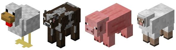 minecraft peaceful mobs