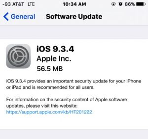 Apple Fixes iOS 9.3.3 Jailbreak with iOS 9.3.4 Release (IPSW Links)