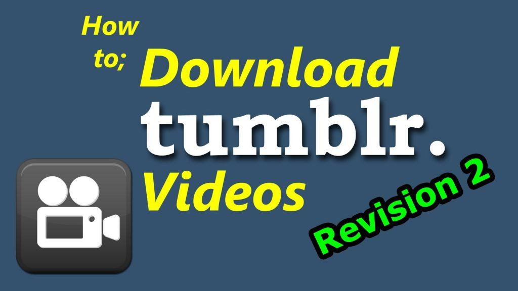 save tumblr videos on iPhone