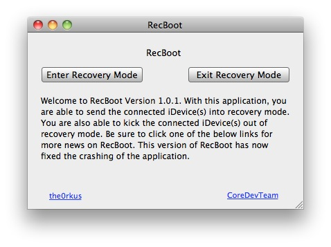 enter recovery mode recboot