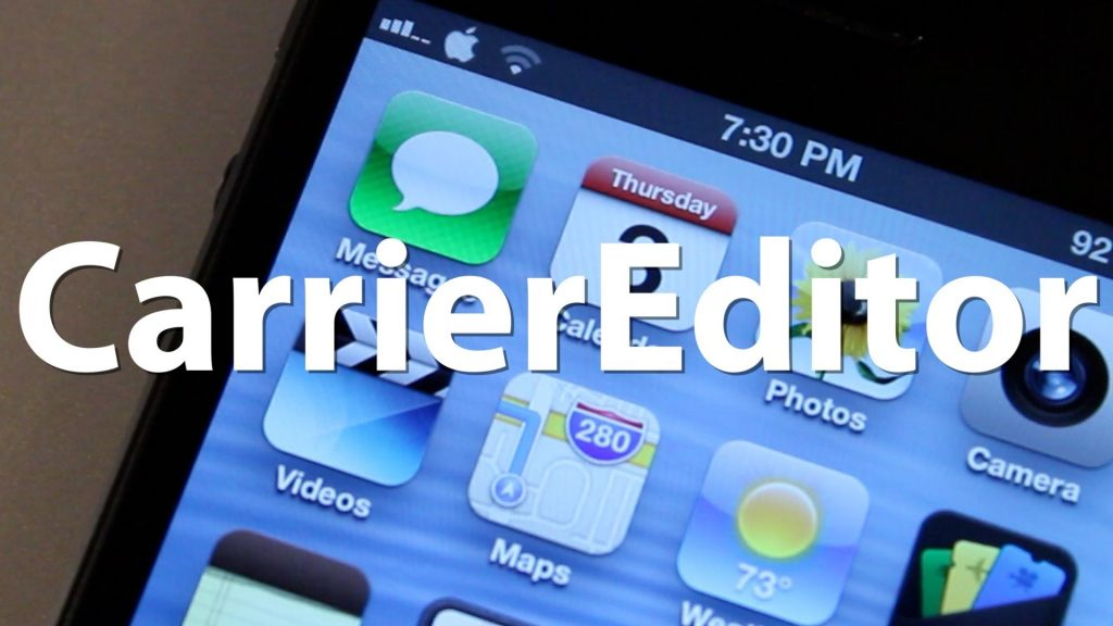 carrier editor iphone