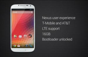 Google Announced Samsung Galaxy S4 with Stock Android OS