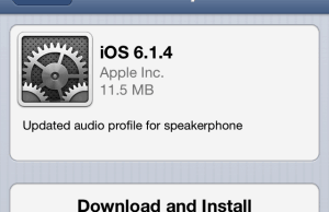 Apple Released iOS 6.1.4 for iPhone 5 Users Only