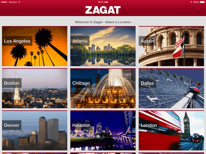 Zagat for iOS