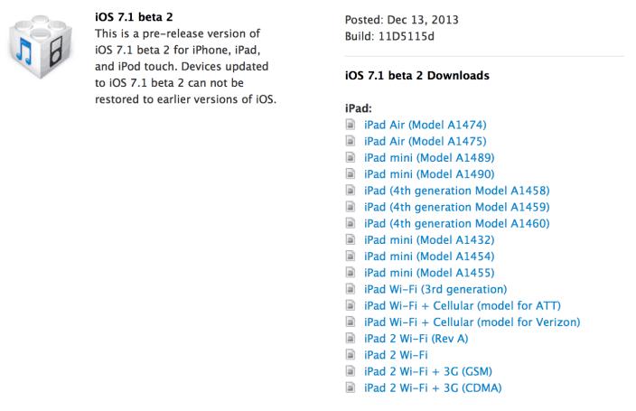 ios 7.1 beta 2 download