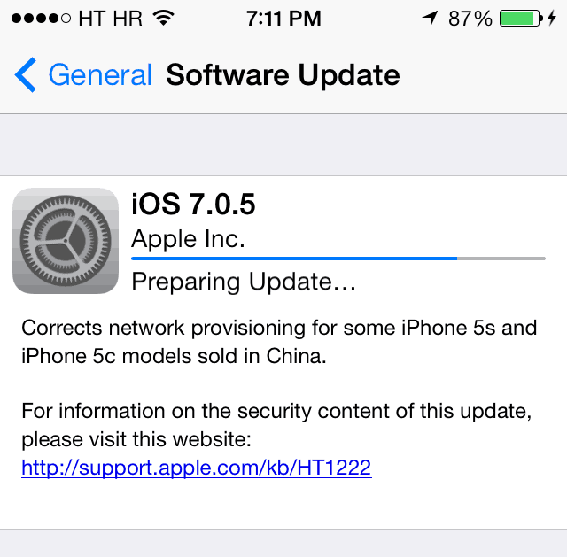 iOS 7.0.5 download