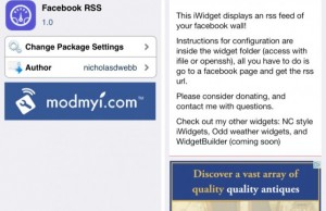 Facebook RSS – Bring Facebook Newsfeed on iPhone Homescreen