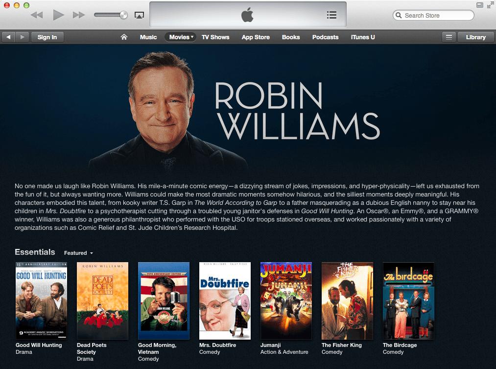 Robin-Williams-iTunes-Store-Tribute-Movies