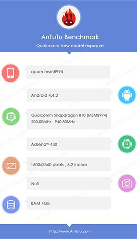snapdragon 810 benchmark